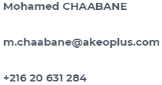 Contact Mohamed CHAABANE